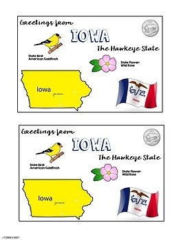 State Postcard Iowa