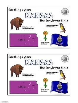 State Postcard Kansas