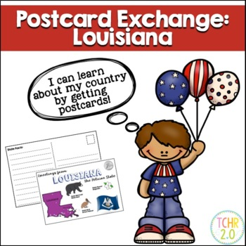 State Postcard Louisiana