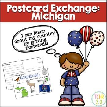 State Postcard Michigan