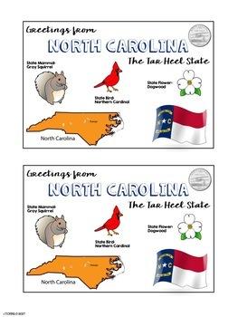 State Postcard North Carolina