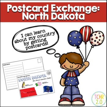 State Postcard North Dakota