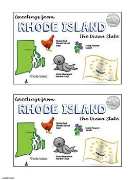 State Postcard Rhode Island