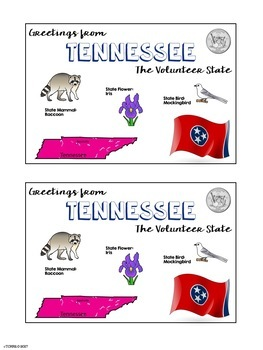 State Postcard Tennessee