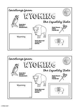 State Postcard Wyoming