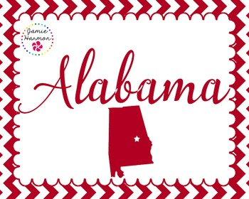 State Poster Set - Alabama
