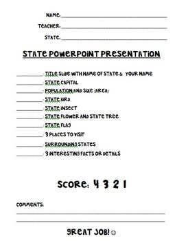 State PowerPoint Presentation Project