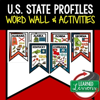 State Profile Posters  (50 States Full Page)