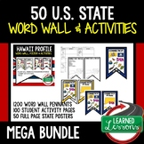 State Profiles Word Wall Pennants, Activity Pages, Posters