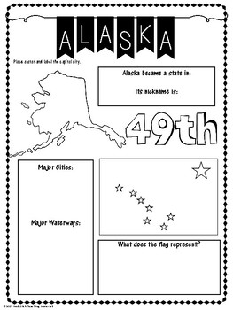 State Profiles: Alaska Notebooking Pages