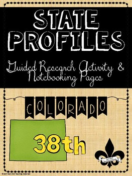 State Profiles: Colorado Notebooking Pages