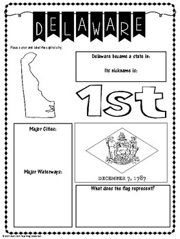 State Profiles: Delaware Notebooking Pages