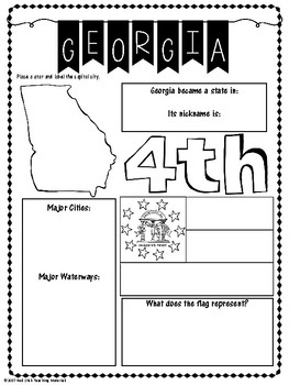 State Profiles: Georgia Notebooking Pages