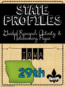 State Profiles: IOWA Notebooking Pages