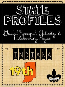 State Profiles: Indiana Notebooking Pages