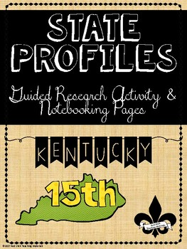 State Profiles: Kentucky Notebooking Pages