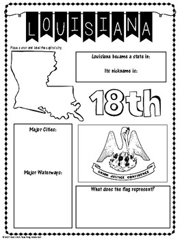 State Profiles: Louisiana Notebooking Pages