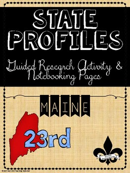 State Profiles: Maine Notebooking Pages