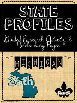 State Profiles: Michigan Notebooking Pages
