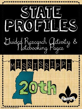 State Profiles: Mississippi  Notebooking Pages