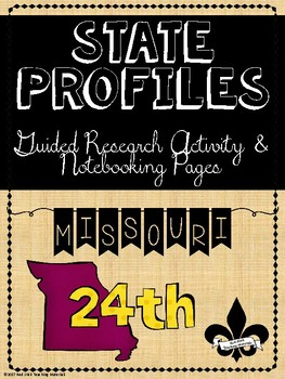 State Profiles: Missouir Notebooking Pages