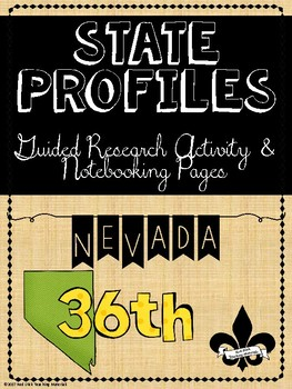State Profiles: Nevada Notebooking Pages