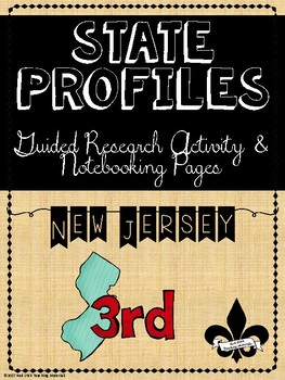 State Profiles: New Jersey Notebooking Pages