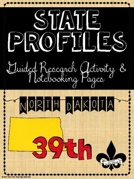 State Profiles: North Dakota Notebooking Pages