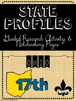 State Profiles: OHIO Notebooking Pages