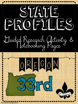 State Profiles: Oregon Notebooking Pages