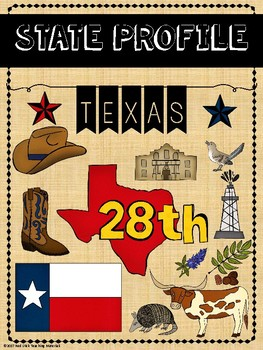 State Profiles: Texas Notebooking Pages