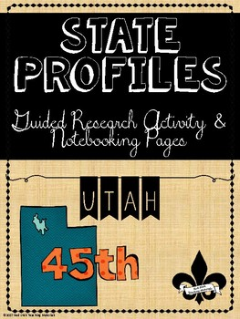 State Profiles: Utah Notebooking Pages