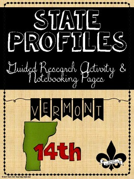 State Profiles: Vermont Notebooking Pages