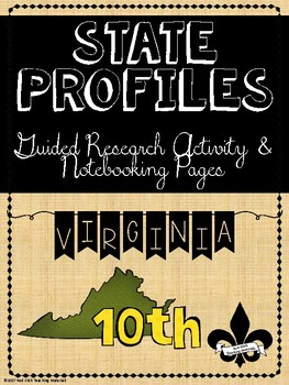 State Profiles: Virginia Notebooking Pages