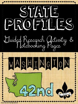 State Profiles: Washington Notebooking Pages