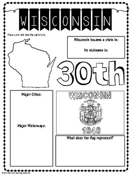 State Profiles: Wisconsin Notebooking Pages