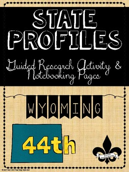 State Profiles: Wyoming Notebooking Pages