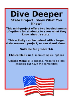 State Project: Dive Deeper