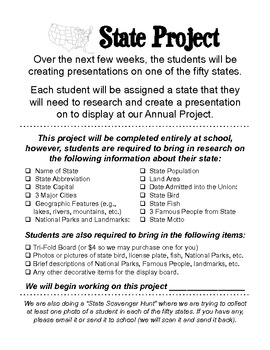 State Project - Guidelines, Handouts, and more!