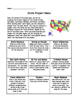 State Project Menu