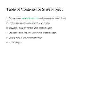 State Projects Excel Tabs