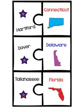 State Puzzles {2 Piece Puzzles}