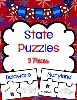 State Puzzles {3 Piece Puzzles}
