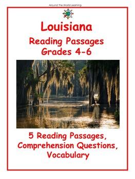 State Reading Passage: Louisiana Reading Bundle
