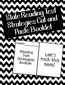 State Reading Test Strategies Booklet Cut and Paste Activity