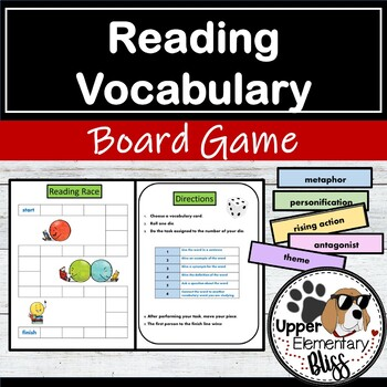State Reading Test Vocabulary Board Game