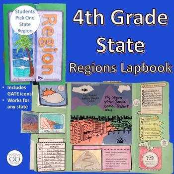 State Region Social Studies Lapbook for 4th Grade - Any State