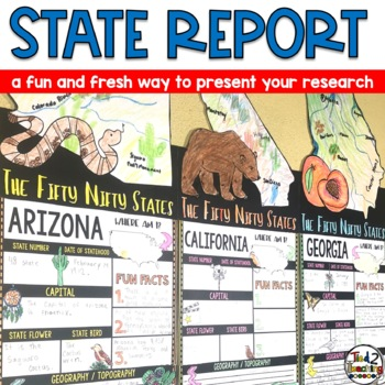 State Report Lapbook - US States Research project