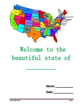 State Report - 5 Paragraph Essay - Scaffolded Writing Program