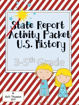 State Report Activity Packet-grades 3-5